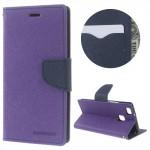 Koženkové pouzdro Fancy Diary Huawei P9 Lite - Fialové