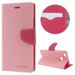 Koženkové pouzdro Fancy Diary Huawei P9 Lite - Světle růžové