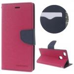 Pouzdro Fancy Diary Huawei P9 Lite - Fuchsia