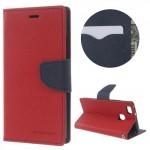 Koženkové pouzdro Fancy Diary Huawei P9 Lite - Červené