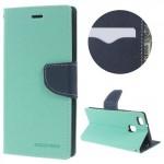 Koženkové pouzdro Fancy Diary Huawei P9 Lite - Tyrkysové