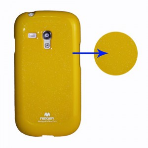 Obal Galaxy S3 Mini i8190 - Žlutý lesklý třpytivý