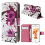 Pouzdro MFashion iPhone 6 - fialové - Květy 03