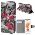 Pouzdro MFashion iPhone 6 - šedé - Květy 04