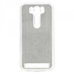 Pouzdro Zenfone Laser 2 500KL - stříbrné třpytivé