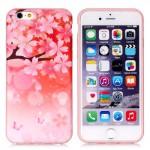 Pouzdro MFashion iPhone 6 - pružné, růžové - Květy 02