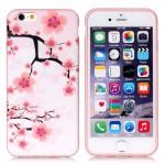 Pouzdro MFashion iPhone 6 - pružné, růžové - Květy 05