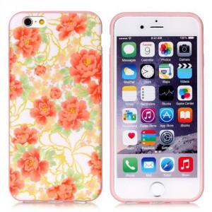 Pouzdro MFashion iPhone 6 - pružné, růžové - Květy 06