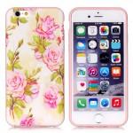 Pouzdro MFashion iPhone 6 - pružné, zelené- Květy 08