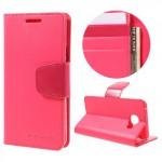 Pouzdro Sonata Diary Galaxy A3 (2016) Růžové