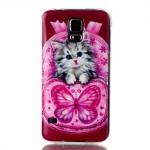 Pouzdro / Obal - Galaxy S5 - Kočka