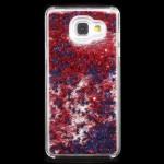 Kryt / Obal Galaxy A5 (2016) - Červené tekuté třpytky s hvězdičkami