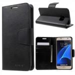Pouzdro Sonata Diary Galaxy S7 - Černé