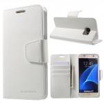 Pouzdro Sonata Diary Galaxy S7 - Bílé