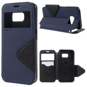 Pouzdro S-View Galaxy S7 - Modré