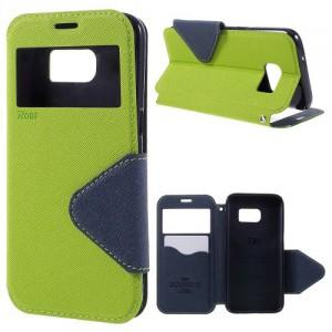 Pouzdro S-View Galaxy S7 - Zelené