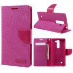 Pouzdro Canvas Diary LG G4c / LG Magna - růžové