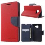 Pouzdro Fancy Diary Galaxy A3 (2016) - červené