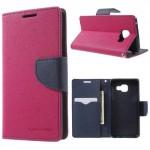 Pouzdro Fancy Diary Galaxy A3 (2016) - tmavě růžové