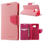 Pouzdro Fancy Diary Galaxy A3 (2016) - světle růžové