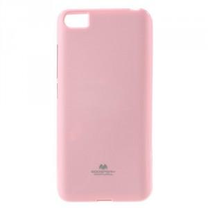 Pouzdro Jelly Case Xiaomi Mi5 - Růžové lesklé třpytivé