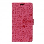 Pouzdro Cartoon Huawei Y3 II - růžové