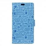 Pouzdro Cartoon Huawei Y3 II - modré