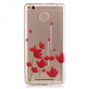 Pouzdro / Obal Xiaomi Redmi 3s - Průhledné - Květy 02