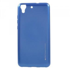 Pouzdro Jelly Metal Huawei Y6 II - modré