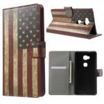 Koženkové pouzdro Honor 5X - Vlajka USA
