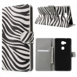 Koženkové pouzdro Honor 5X - Zebra