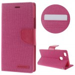 Pouzdro Canvas Diary Huawei P9 Lite - růžové