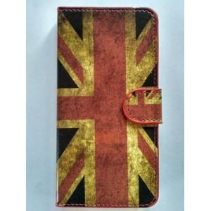 Sleva - Koženkové pouzdro Huawei Y6 - Union Jack