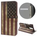Koženkové knížkové pouzdro Lenovo K5 Note - Vlajka USA