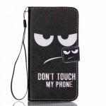 Koženkové pouzdro Galaxy A3 (2016) - Don't touch my phone 02