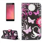 Koženkové pouzdro Xiaomi Redmi 3s - Motýli 02