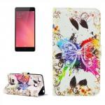 Koženkové pouzdro Xiaomi Redmi 3s - Motýli 04