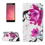 Koženkové pouzdro Xiaomi Redmi 3s - Květy 02