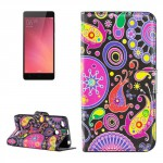 Koženkové pouzdro Xiaomi Redmi 3s - Květy 04