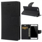 Pouzdro Fancy Diary iPhone 6 - černé s černou přezkou