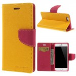 Pouzdro Fancy Diary iPhone 6 - žluté
