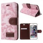 Pouzdro MFashion iPhone 6 - květy - růžové