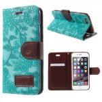 Pouzdro MFashion iPhone 6 - květy - modré