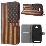 Koženkové pouzdro Zenfone Max ZC550KL - Vlajka USA