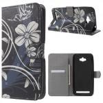 Koženkové pouzdro Zenfone Max ZC550KL - Květy 03