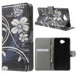 Koženkové knížkové pouzdro Lumia 650 - Květy 05