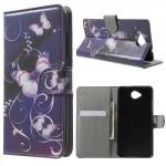 Koženkové knížkové pouzdro Lumia 650 - Motýli 04