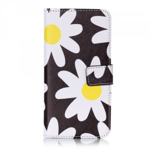 Koženkové pouzdro Xperia XA - Květy 02