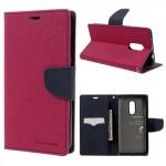 Pouzdro Fancy Diary Xiaomi Redmi Note 4 - tmavě růžové