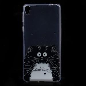 Pouzdro Sony Xperia E5 - průhledné - kočky